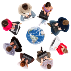 group of people forming a circle